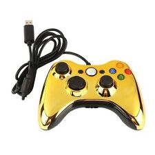 Gold / ELECTROPLATE * / Wired ( USB ) Game Controller / For Microsoft XBOX 360 *