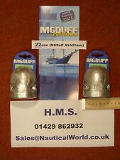 "22mm 7/8"" Shaft Anode MG DUFF Yacht/Cruiser/Barge/Coble/Trawler/Ship/FishingBoat"