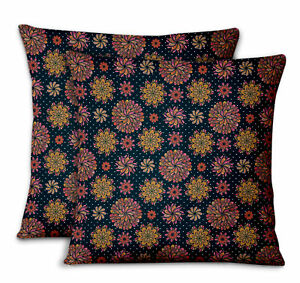 S4Sassy Multicolor Dot Sofa Cushion Case Home Square Pillow Cover 2Pcs-MD-512D