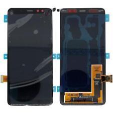 Original Samsung Galaxy A8 2018 sm-a530f Pantalla LCD embalar gh97-21406a Negro