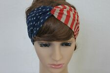 Patriotic turban headband Fouth of July American flag women hair US seller