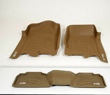 Ford Super Duty Crew Cab 2011 - 2014  Molded Floor Mats - Tan - 3 pc set