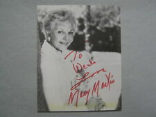 MARY  MARTIN (Died in 1990)  Peter Pan/Larry Hagman Signed  4 X 5   B & W  Photo