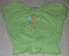 Disneyland Resort Crop Top Tinkerbell Sequin Gems Short Sleeve XS Girls Green
