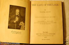 """""""The Lady Of The Lake"""" Sir Walter Scott 1916 Vintage Antique Book SIGNED"""