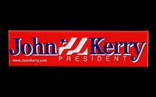 """2004 John Kerry 2 1/2"""" x 3/8"""" Red Presidential Campaign Pinback Button"""