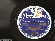 78rpm HARRY PARRY RADIO SEXTET gone with the wind / parry party