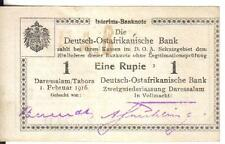 GERMAN, EAST AFRICA, 1 RUPEE, 1916, AU/UNC , ERROR