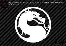 (2x) Mortal Kombat Sticker Decal Die Cut mortal combat