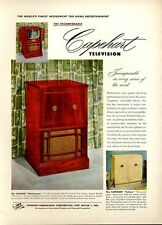 1951 Capehart PRINT AD Vintage Television Models Charleston Futura