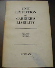 (PRL) ANTIQUE BOOK RARO 1960 LIBRO ANTICO UNIT LIMITATION CARRIER'S LIABILITY