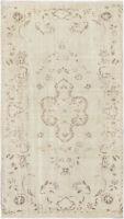 "Hand-knotted Turkish Carpet 5'3"" x 9'2"" Antalya Vintage Traditional Wool Rug"