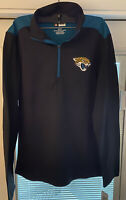 NFL Team Apperal Men's Jacksonville Jaguars 1/4 Zip Fleece Pull Over Size XXL