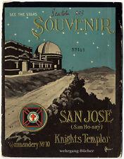 Freimaurerei: Knights Templar Souvenir Book San Jose Commandery No.10 um 1910