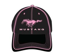 David Carey Ford Mustang Logo Cars Trucls Pink Black Baseball Dad Cap Hat 62101