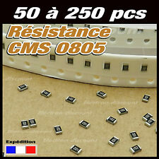 résistance CMS 0805  10, 12, 15, 18, 22, 27, 33, 39, 47, 56, 68, 82 ohms