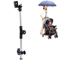 Kinderwagen Schirmhalter Verstellbarer Wagen Sonnenschirm Fahrrad Schirmhalt  cb