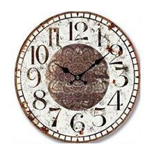 Clock Country Vintage Inspired Wall RUSTIC MANDALA Clock 34cm