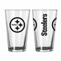 Pittsburgh Steelers 16oz.Gameday Pint Glass Set 2 Pack Boelter Brands