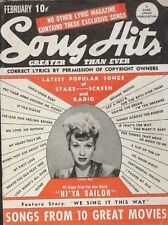 LUCILLE BALL - SONG HITS - FEBRUARY 1944