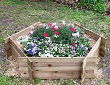 Raised Timber Garden Bed Hexagonal Flat Pack- Easy to assemble