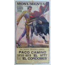 EL CORDOBES Paco CAMINO El VITI en la Monumental Ganaderia GARZON Salamanca 1971