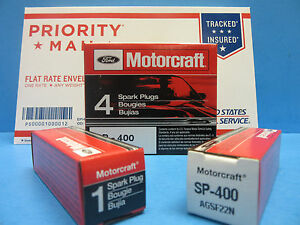 6 Spark Plugs Genuine FORD MOTORCRAFT SP400 AGSF22N V6