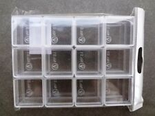 Clear Small Plastic Storage Container Box Square Shape 12 pcs,Body and Lid