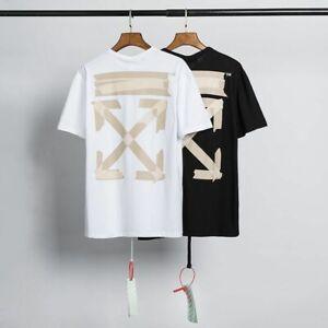 off white T-shirt a maniche corte allentata di nuova concezione Uomo donna