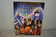 STAR WARS EPISODE 1 THE PHANTOM MENACE OFFICIAL SCRAPBOOK  EDITION 1999 BOOK
