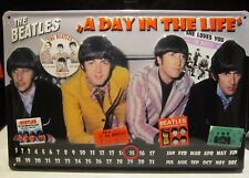 THE BEATLES/DAY IN THE LIFE EMBOSSED(3D) METAL ADVERTISING SIGN/CALENDAR 30X20cm