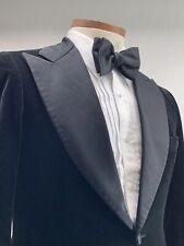 1fc08aadd6c Bespoke Vintage Formal Craft Velvet Dinner Tuxedo Jacket 40 R Vented Peak  Lapels