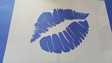Schablonen 373 Kuss Mund Mylarfolie Shabby Möbel Wandtattoo Wandbilder Airbrush