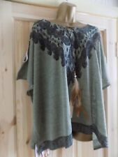 Ladies Hippy/ Boho Cold Shoulder Top With Feather Tie Detail Top, size 16/18