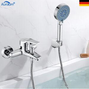 Badewannenarmatur Wasserhahn Wannenarmatur Duschset mit Handbrause Bad Armatur