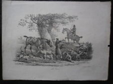 Carle VERNET Lithographie Horses English Hunting 1820,
