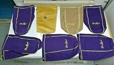 CROWN ROYAL BAGS 1.75L Lot of 7 Bags 1 VANILLA, 1 RESERVE TAN FAUX SUEDE, 5 BLUE