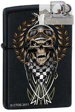 Zippo 7289 race skull Lighter with PIPE INSERT PL