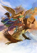 Raphael Angel Card by Briar Archangel Raphael with Eagles Greeting Card