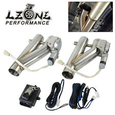 2in1 2.25 Dual EXT Electric Cutout Remote Control Dump Bypass Valve Downpipe 304