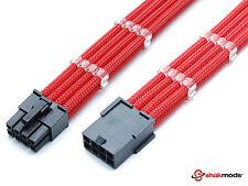 CPU de 8 pines ATX Fuente de alimentación Cable de extensión de manga rojo 45cm + 2 Gratis Cable Peines
