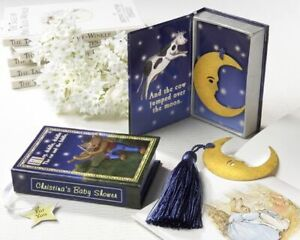 KIDS BOOK MARK 'OVER THE MOON' STOCKING FILLER GIFT CHRISTMAS PARTY FAVOUR BOXED