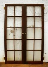 "3 Pair avail 42""x63 Antique Vintage Wood Wooden Cabinet Pantry Door Window Glass"