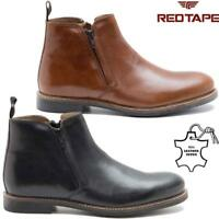 Mens Leather Chelsea Boots New Ankle Biker Smart Formal Desert Boots Shoes Size
