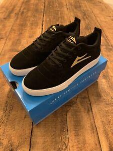 Lakai Black Gold Suede Bristol Shoes - UK6 EU40