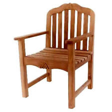 KYOTO REAL INDONESIAN TEAK SOLID WOOD LARGE WIDE DINING ARM CHAIR CARVING SEAT