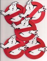 "GHOSTBUSTERS No Ghosts Logo Screen Accurate 4"" Patch Set Of Five (5)"