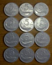5 lire lotto 3 monete 1953-1954-1955