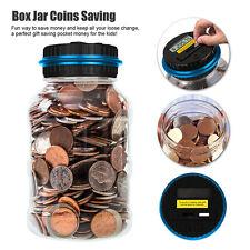 New Large Digital Coin Counting Money Saving Box Jar Bank LCD Screen Coins CA