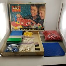 Vintage Lego System Junior Constructor by Samsonite LOT w/ Box & Baseplates